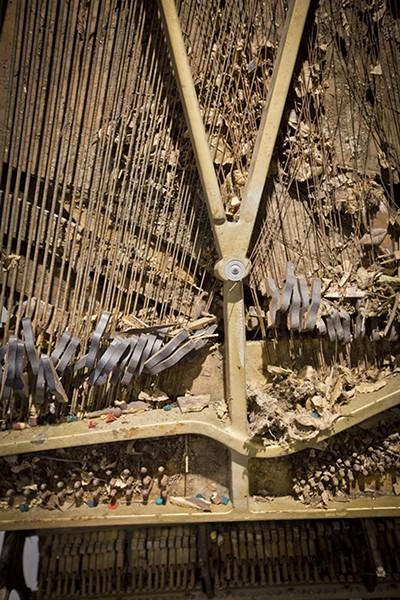 Jim Dickinson's piano detail. - JUSTIN FOX BURKS