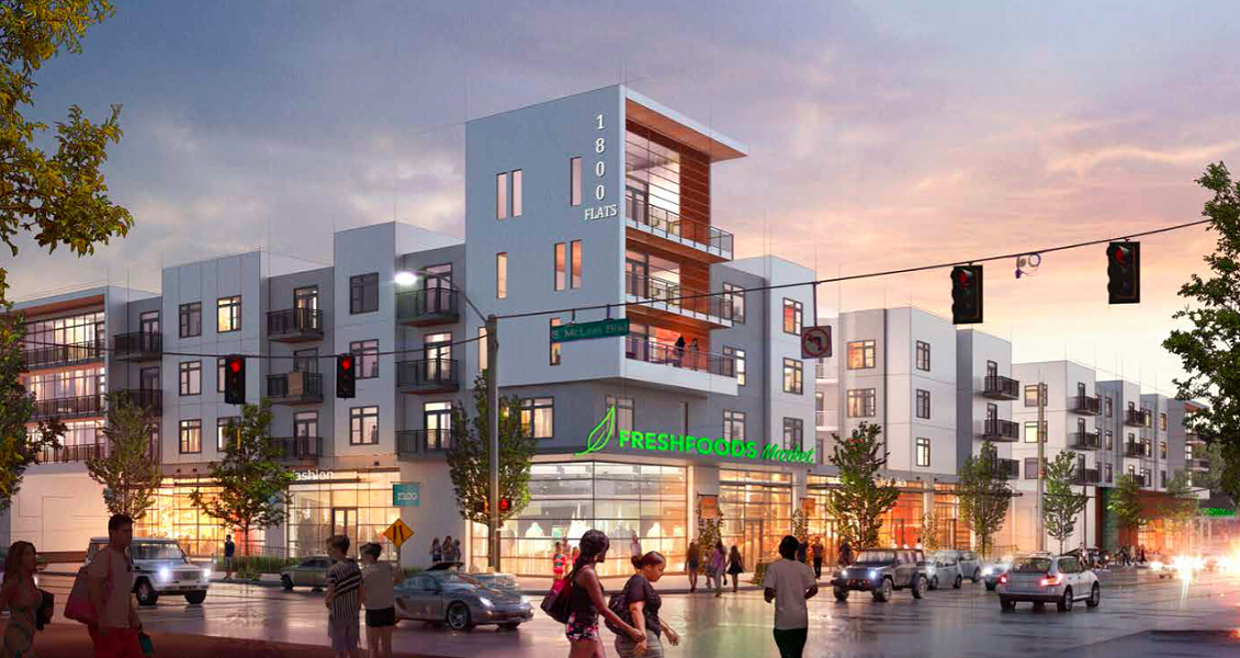 'Midtown Market' would have apartments and a 'gourmet grocery store.' - BELZ ENTERPRISES