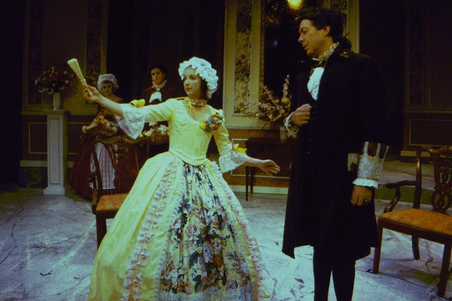 "Natalie Wilder in ""The School for Scandal"" at the U of M. 1986. - COURTESY OF THE INTERNET"
