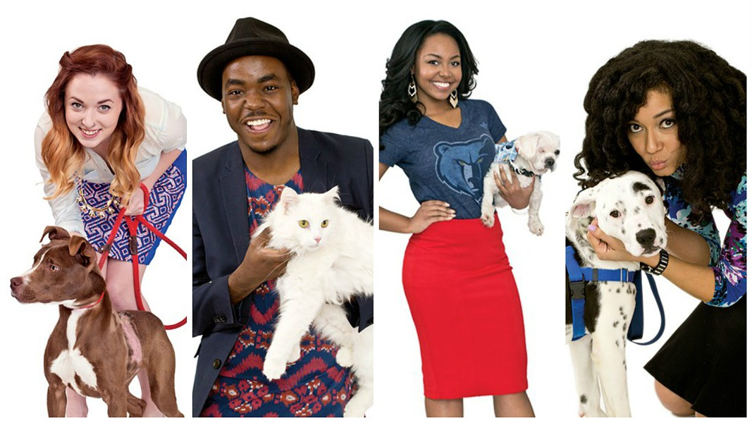 A sampling of last year's Hotties (posing with adorable animals from the Humane Society of Memphis & Shelby County). - JUSTIN FOX BURKS