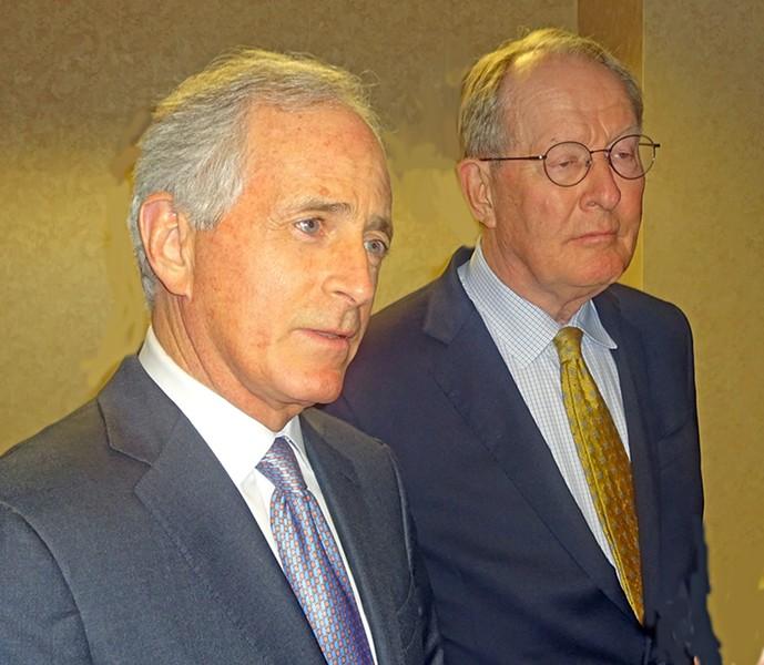 Senators Corker (l) and Alexander - JB
