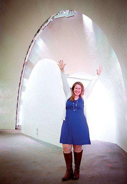 From dances to donation buckets, Anne Pitts (below) gets hyped about the  Shell.