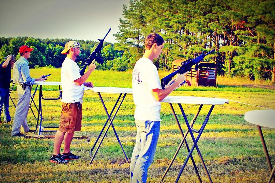 Participants in Rep. Andy Holt's Hogfest & Turkey Shoot Saturday. - ANDY HOLT