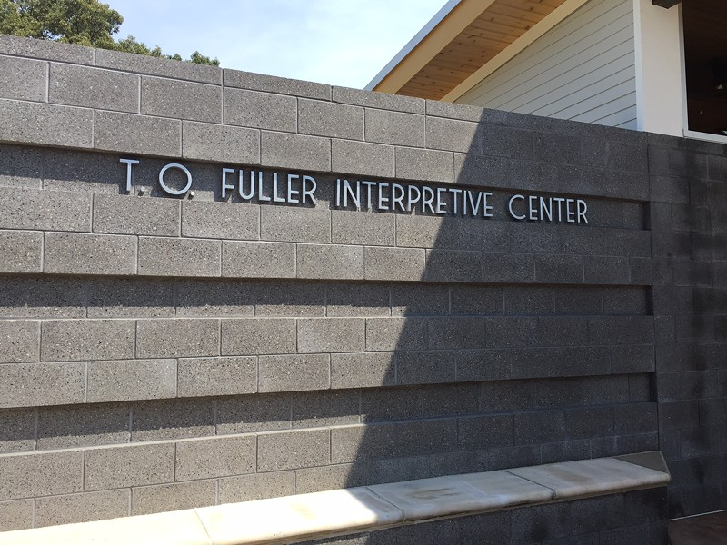 The old golf course clubhouse is now an interpretive center.