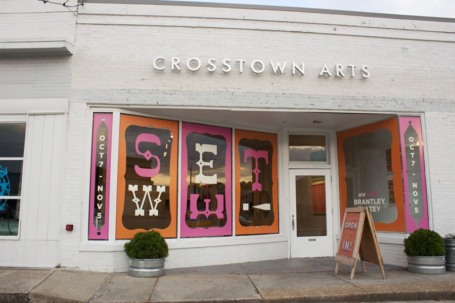 The frontage of 422 N. Cleveland St. at Crosstown Arts for Brantley Ellzey's SWEET. - ELLE PERRY
