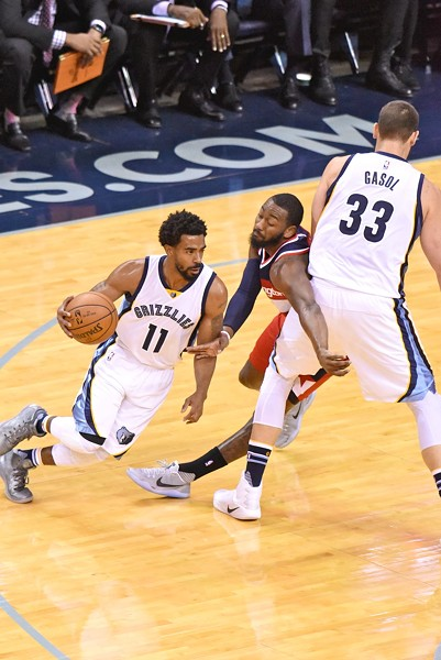 Mike Conley and Marc Gasol carried the Grizzlies down the stretch. - LARRY KUZNIEWSKI