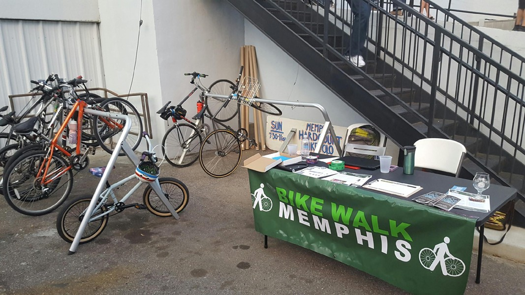 Some of the City's new special event bike racks were recently put to use at Memphis Made Brewing's MALTED festival. - COURTESY OF NICHOLAS OYLER