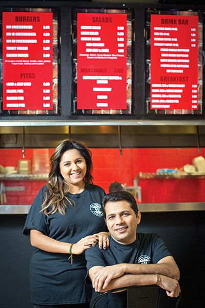 Hamida and Sunny Mandani - in the 901 Grille