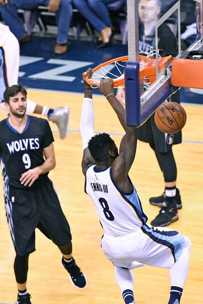 James Ennis has had a breakout year for the Grizzlies after being cut last year. - LARRY KUZNIEWSKI