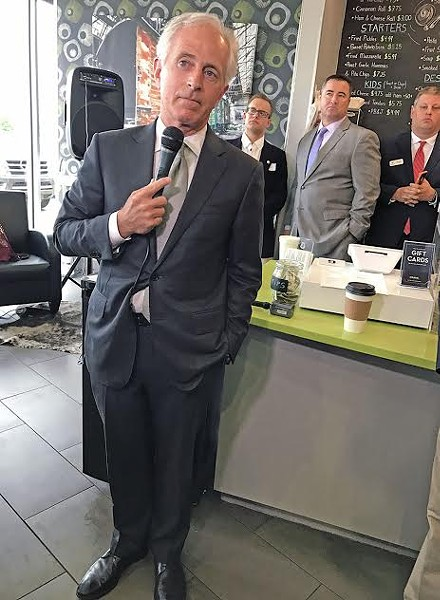 Senator Bob Corker at the Crave Coffee Bar - JACKSON BAKER
