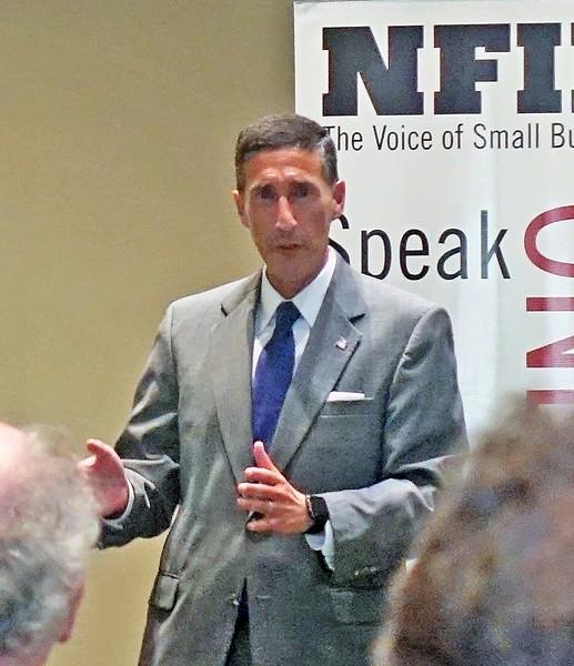 Kutoff answering questions at NFIB meeting - JB