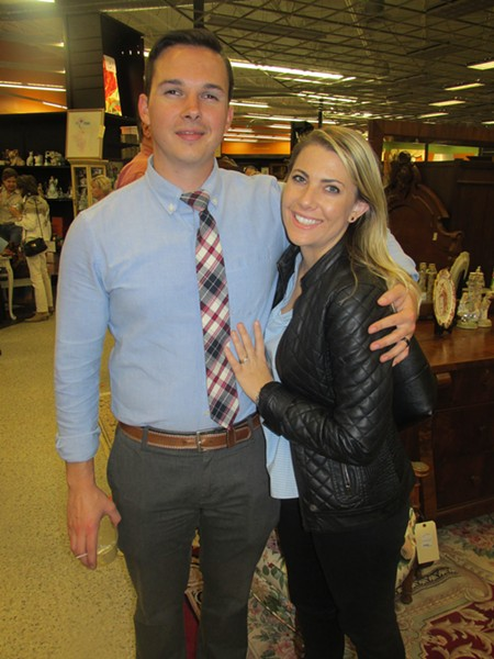 Jonathan and Ashleigh Bernhardt at Stock Exchange preview party. - MICHAEL DONAHUE