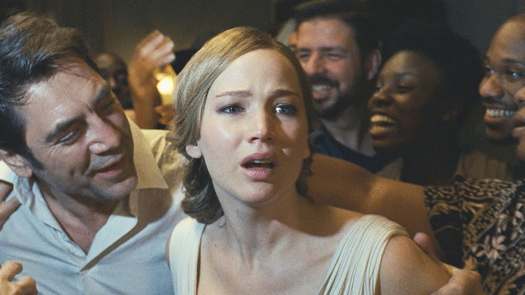 Javier Bardem and Jennifer Lawrence do things in Darren Aronofsky's mother!.