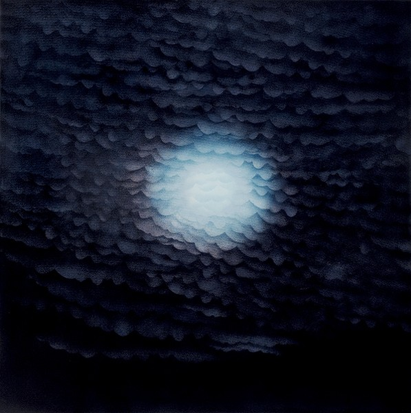 "Nightfall: Clouds and Moon 2006 from Veda Reed's ""Day into Night"""