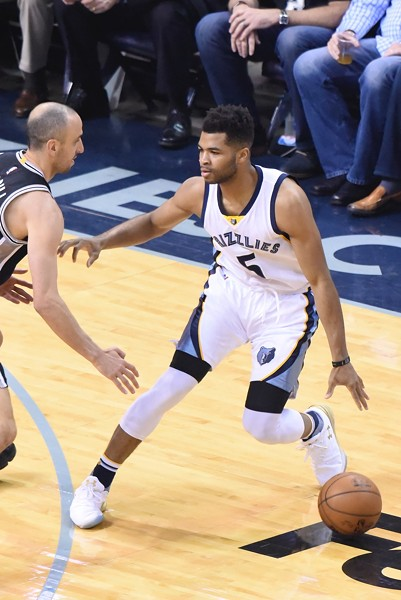 Andrew Harrison came up big when the Grizzlies needed him to. - LARRY KUZNIEWSKI
