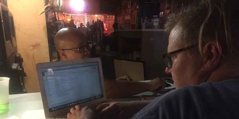"In the ""writer's room"" with Richard Douglas Jones and Hunter Sandlin"