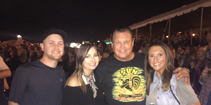MusicFest, HBG Design and Susan Komen From left, Rusty and Maury Fletcher and Jerry Lawler and Lauryn McBride at Memphis in May Beale Street Music Festival. Michael Donahue