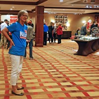 Scenes from Election Night a Kelsey well-wisher at GOP watch party JB
