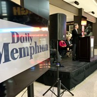 Eric Barnes, president/executive editor of The Daily Memphian, unveils details of the new online newspaper on Monday.