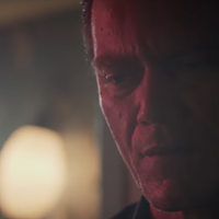 "Michael Shannon in Lucero's music video for ""Long Way Back Home."""