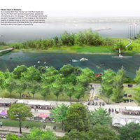 Studio Gang's concept plan shows a reactivated Wolf River Harbor.