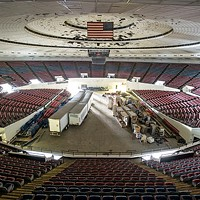 The main floor of the MidSouth Coliseum.