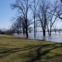 The Mississippi River at 38 feet on February 24th.