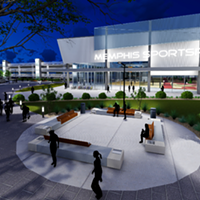 A rendering of the proposed youth sports complex that will front Southern Avenue.