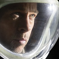 Brad Pitt as Major Roy McBride in Ad Astra.