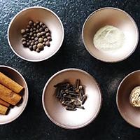 DIY PSL kit starts with (clockwise from bottom left) cinnamon, allspice, ginger, nutmeg, and cloves