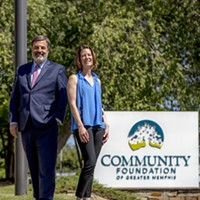 Community Foundation of Greater Memphis CEO Bob Fockler and Executive Vice President Sutton Mora Hayes