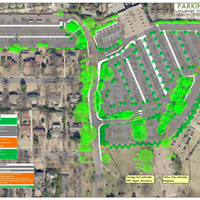 """The current plan for the Memphis Zoo's new parking lot, which will end parking """"forever"""" on Overton Park's Greensward."""