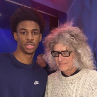 I wasn't giving Ja Morant any basketball tips at the Grizz Bash because I don't know any.
