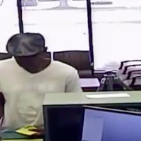 A video shows Arnold Eden's robbery of the Hope Federal Credit Union in 2017.