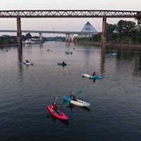 Kayaking on the Mississippi