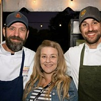 David Krog, Amanda Krog, and chef de cuisine Zach Thomason at Dory.