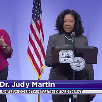 Dr. Judy Martin talks about vaccines in Shelby County during Tuesday's briefing of the Memphis and Shelby County COVID-19 Task Force.