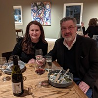 Tiffany Brimhall and Ken Hall got a sneak peek at the new Dory restaurant.