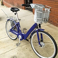 A tester model of a bicycle being considered for the bike-share program.