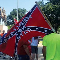 Confederate supporters at a rally on Saturday