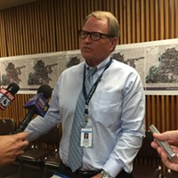 Memphis Chief Administrative Officer Jack Sammons talks to the media Wednesday morning.