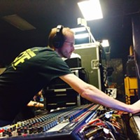 Rocket Science Audio's Kyle Johnson at the controls.