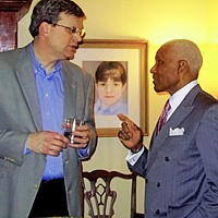 Councilman Jim Strickland and Mayor AC Wharton in chummier times.