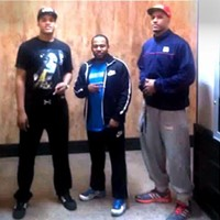 ( lto r) Isaiah Stokes, trainer Jevonte Holmes, Jarnell Stokes.