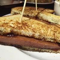 Blind Bear's Jager BBQ Bologna Sandwich