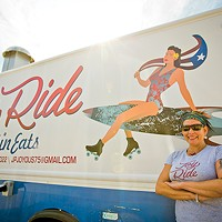 Lunch on the run — new food trucks JoyRide (above) and RAWK'n Grub
