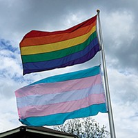 The MGLCC raised a larger transgender flag last week.