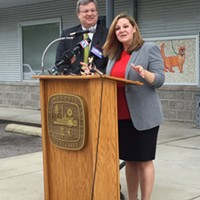 Mayor Jim Strickland and MAS Director Alexis Pugh