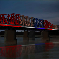 A sample of what Big River Crossing could look like with new lights.
