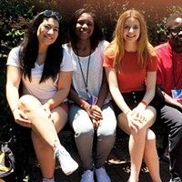 Lily Donaldson (third from left) at the Baldwin Fellows conference